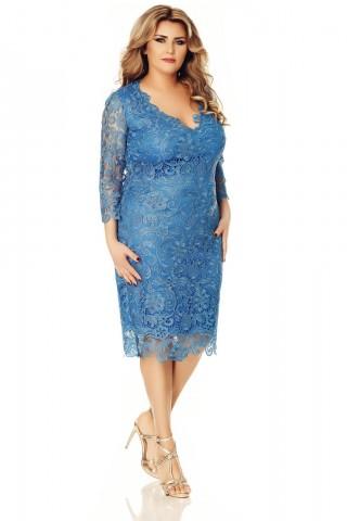 Rochie albastra Plus Size Arella