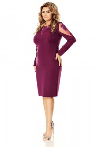 Rochie mov Plus Size Iman