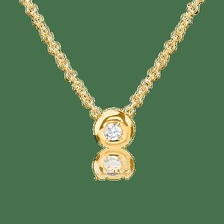Colier din aur galben de 14K cu diamant