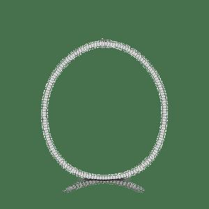 Lant din aur alb de 18K cu diamante