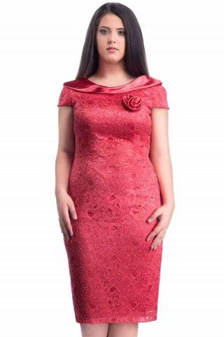 rochie dorina rosie
