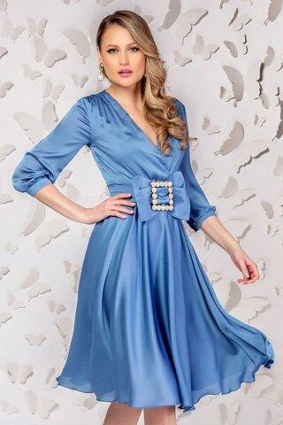 Rochie de ocazie Pretty Girl bleu in clos