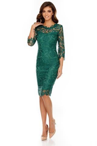 rochie Noelle verde smarald